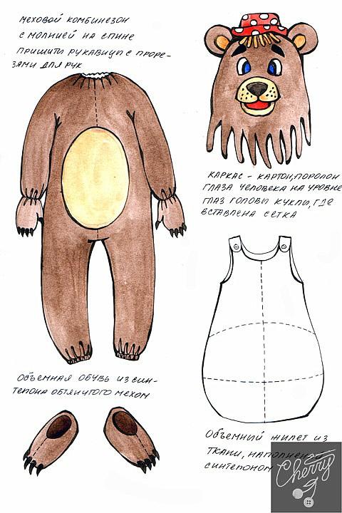 Сделать куклу медведя своими руками